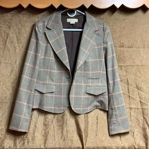Michael Kors Suit Jacket in Brown and White